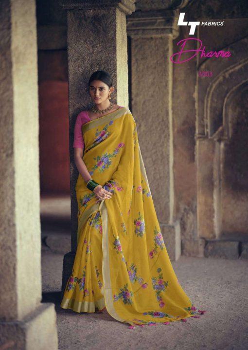 Lt Fabrics Dharma Saree Sari Wholesale Catalog 10 Pcs 7 510x719 - Lt Fabrics Dharma Saree Sari Wholesale Catalog 10 Pcs