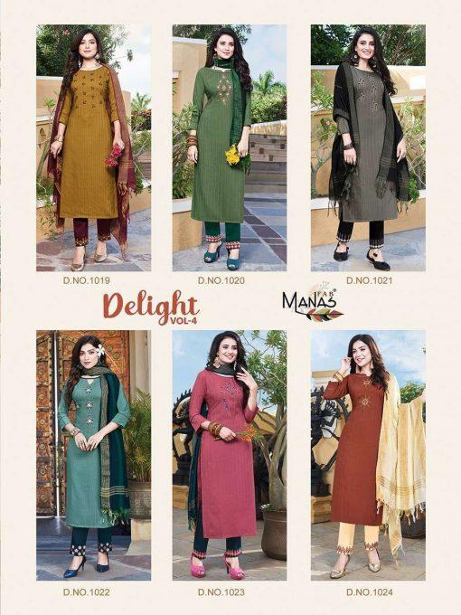 Manas Delight Vol 4 Kurti with Dupatta Bottom Wholesale Catalog 6 Pcs 11 510x680 - Manas Delight Vol 4 Kurti with Dupatta Bottom Wholesale Catalog 6 Pcs