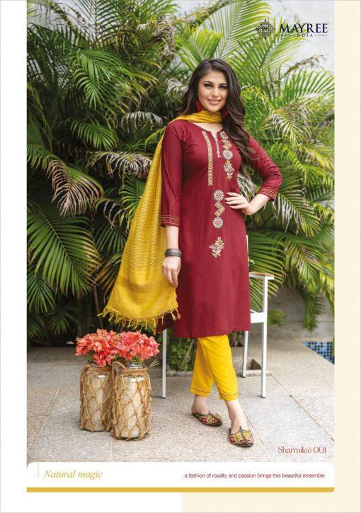 Mayree India Sharmilee Kurti with Dupatta Bottom Wholesale Catalog 8 Pcs 13 510x725 - Mayree India Sharmilee Kurti with Dupatta Bottom Wholesale Catalog 8 Pcs