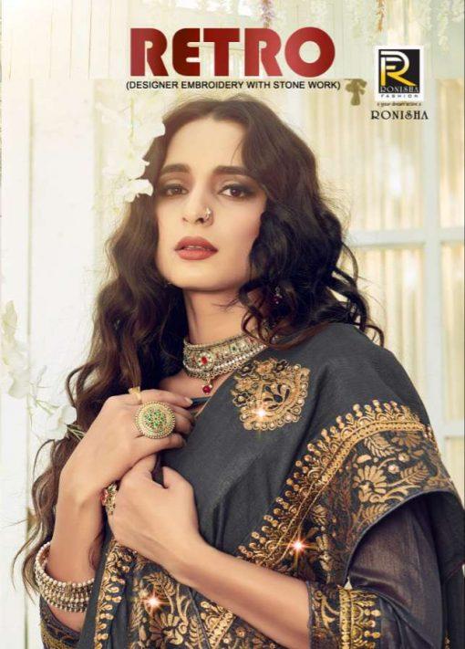 Ranjna Retro Saree Sari Wholesale Catalog 8 Pcs 1 510x711 - Ranjna Retro Saree Sari Wholesale Catalog 8 Pcs