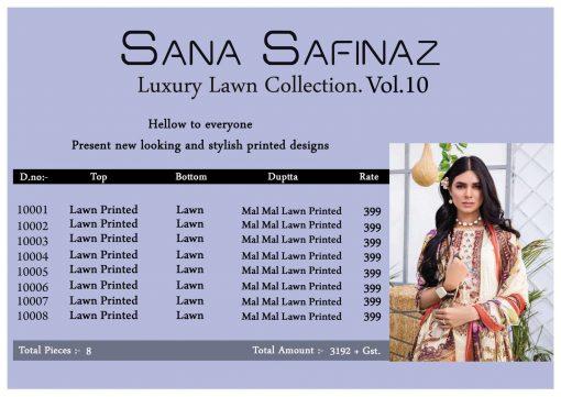 Sana Safinaz Luxury Lawn Collection Vol 10 Salwar Suit Wholesale Catalog 8 Pcs 11 510x361 - Sana Safinaz Luxury Lawn Collection Vol 10 Salwar Suit Wholesale Catalog 8 Pcs