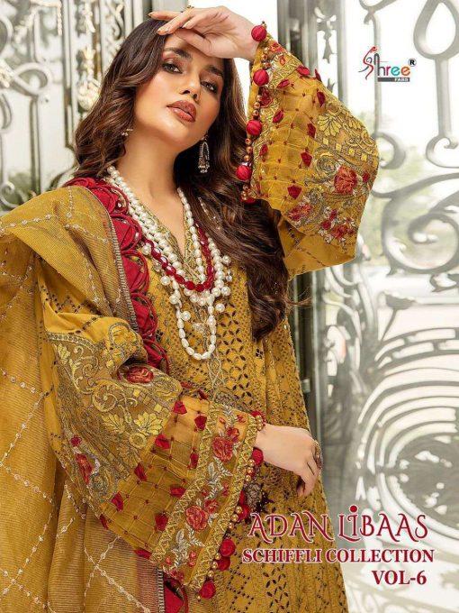 Shree Fabs Adan Libaas Schiffli Collection Vol 6 Salwar Suit Wholesale Catalog 5 Pcs 1 510x680 - Shree Fabs Adan Libaas Schiffli Collection Vol 6 Salwar Suit Wholesale Catalog 5 Pcs