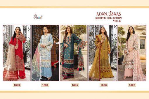 Shree Fabs Adan Libaas Schiffli Collection Vol 6 Salwar Suit Wholesale Catalog 5 Pcs 12 510x340 - Shree Fabs Adan Libaas Schiffli Collection Vol 6 Salwar Suit Wholesale Catalog 5 Pcs