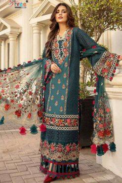 Shree Fabs Adan Libaas Schiffli Collection Vol 6 Salwar Suit Wholesale Catalog 5 Pcs