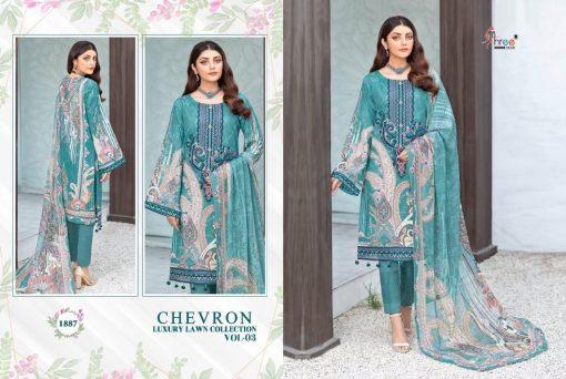 Shree Fabs Chevron Luxury Lawn Collection Vol 3 Salwar Suit Wholesale Catalog 8 Pcs 13 510x342 - Shree Fabs Chevron Luxury Lawn Collection Vol 3 Salwar Suit Wholesale Catalog 8 Pcs