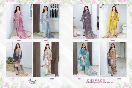 Shree Fabs Chevron Luxury Lawn Collection Vol 3 Salwar Suit Wholesale Catalog 8 Pcs 18 510x342 - Shree Fabs Chevron Luxury Lawn Collection Vol 3 Salwar Suit Wholesale Catalog 8 Pcs