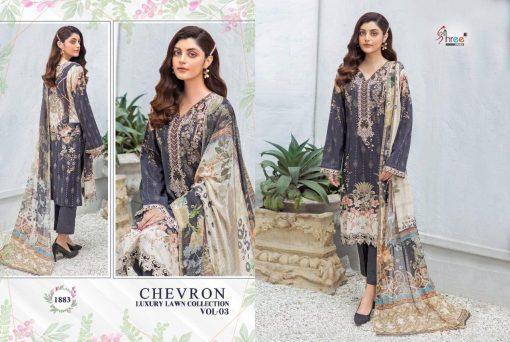 Shree Fabs Chevron Luxury Lawn Collection Vol 3 Salwar Suit Wholesale Catalog 8 Pcs 5 510x342 - Shree Fabs Chevron Luxury Lawn Collection Vol 3 Salwar Suit Wholesale Catalog 8 Pcs