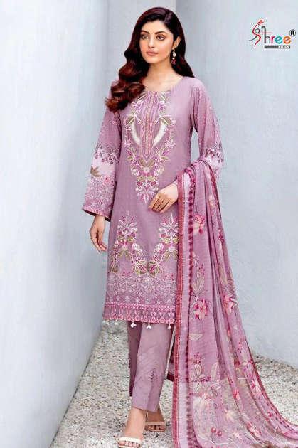 Shree Fabs Chevron Luxury Lawn Collection Vol 3 Salwar Suit Wholesale Catalog 8 Pcs