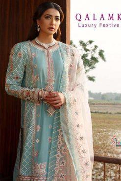 Shree Fabs Qalamkar Luxury Festival Lawn Salwar Suit Wholesale Catalog 4 Pcs