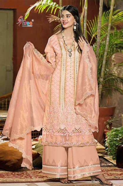 Shree Fabs Sobia Nazir Lawn Collection Vol 4 Salwar Suit Wholesale Catalog 7 Pcs