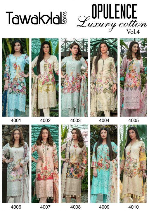 Tawakkal Opulence Luxury Cotton Vol 4 Salwar Suit Wholesale Catalog 10 Pcs 15 510x723 - Tawakkal Opulence Luxury Cotton Vol 4 Salwar Suit Wholesale Catalog 10 Pcs