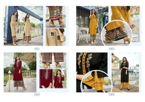 Vitara Heartloom Kurti with Palazzo Wholesale Catalog 4 Pcs 5 510x360 - Vitara Heartloom Kurti with Palazzo Wholesale Catalog 4 Pcs