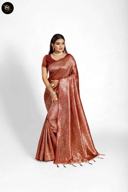 YNF Meesho Silk Saree Sari Wholesale Catalog 6 Pcs 6 510x765 - YNF Meesho Silk Saree Sari Wholesale Catalog 6 Pcs