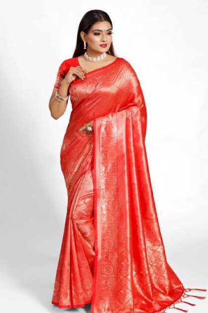 YNF Meesho Silk Saree Sari Wholesale Catalog 6 Pcs