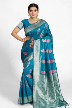 YNF Nykaa Silk Saree Sari Wholesale Catalog 6 Pcs