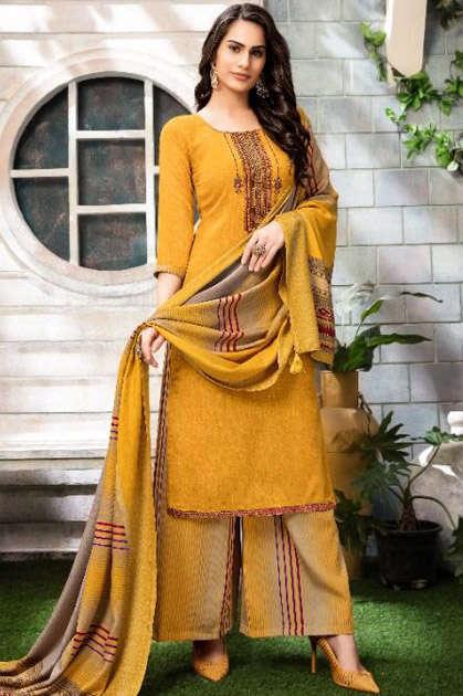 Adinath Sandhiya Pashmina Salwar Suit Wholesale Catalog 6 Pcs