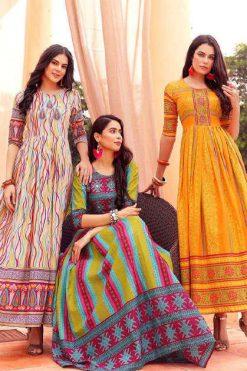 Aradhna Fashion Stripy Vol 1 Kurti Wholesale Catalog 12 Pcs