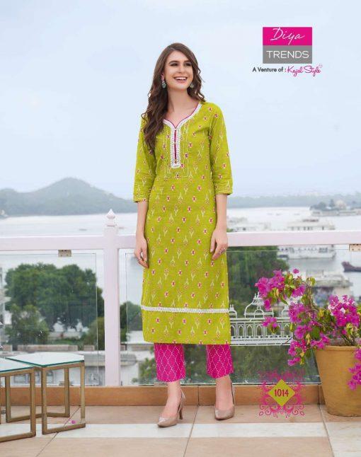 Diya Trends Cotton Candy Vol 1 by Kajal Style Kurti with Pant Wholesale Catalog 14 Pcs 17 510x646 - Diya Trends Cotton Candy Vol 1 by Kajal Style Kurti with Pant Wholesale Catalog 14 Pcs