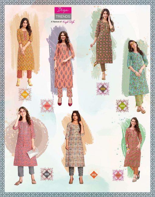 Diya Trends Cotton Candy Vol 1 by Kajal Style Kurti with Pant Wholesale Catalog 14 Pcs 18 510x646 - Diya Trends Cotton Candy Vol 1 by Kajal Style Kurti with Pant Wholesale Catalog 14 Pcs
