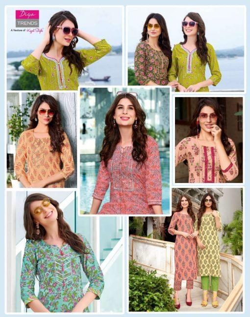 Diya Trends Cotton Candy Vol 1 by Kajal Style Kurti with Pant Wholesale Catalog 14 Pcs 9 510x646 - Diya Trends Cotton Candy Vol 1 by Kajal Style Kurti with Pant Wholesale Catalog 14 Pcs