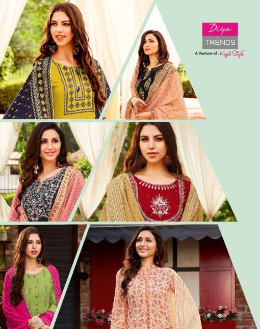 Diya Trends Odhani Vol 2 by Kajal Style Kurti with Dupatta Bottom Wholesale Catalog 10 Pcs 13 510x646 - Diya Trends Odhani Vol 2 by Kajal Style Kurti with Dupatta Bottom Wholesale Catalog 10 Pcs
