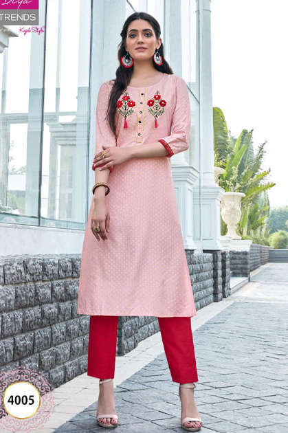 Diya Trends Victoria Vol 4 by Kajal Style Kurti Wholesale Catalog 16 Pcs