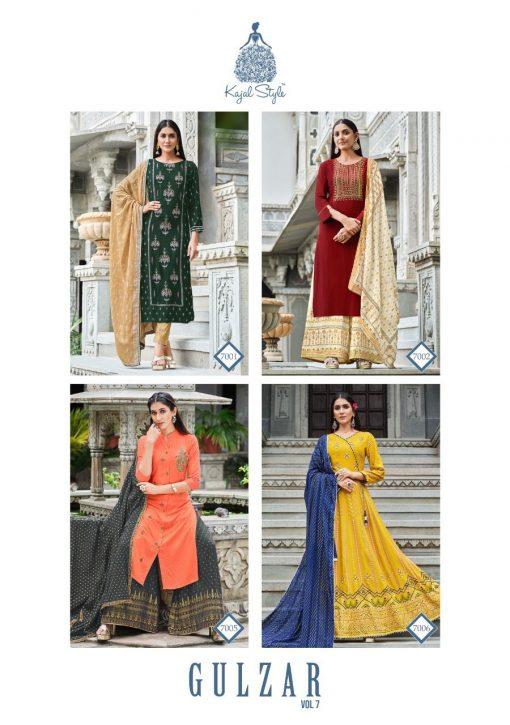 Kajal Style Gulzar Vol 7 Kurti with Dupatta Bottom Wholesale Catalog 8 Pcs 12 510x725 - Kajal Style Gulzar Vol 7 Kurti with Dupatta Bottom Wholesale Catalog 8 Pcs