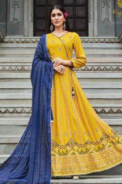 Kajal Style Gulzar Vol 7 Kurti with Dupatta Bottom Wholesale Catalog 8 Pcs