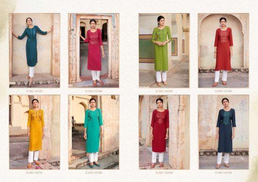 Kalaroop Pili Vol 4 by Kajree Kurti Wholesale Catalog 8 Pcs 11 510x360 - Kalaroop Pili Vol 4 by Kajree Kurti Wholesale Catalog 8 Pcs