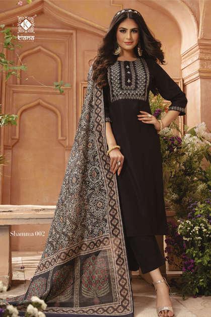 Kiana Shamma Kurti with Dupatta Bottom Wholesale Catalog 8 Pcs