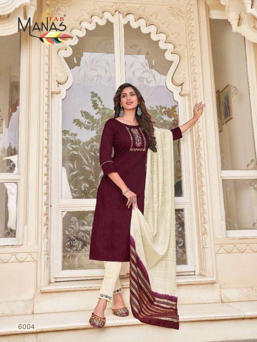 Manas Arina Kurti with Dupatta Bottom Wholesale Catalog 6 Pcs 16 510x680 - Manas Arina Kurti with Dupatta Bottom Wholesale Catalog 6 Pcs