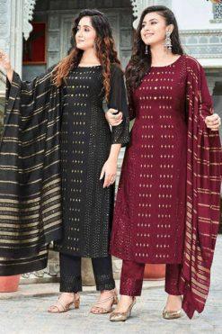 Manas Maher Kurti with Dupatta Bottom Wholesale Catalog 6 Pcs