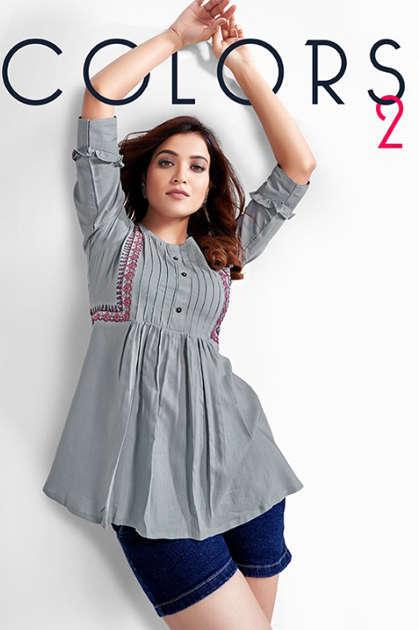 Manya Colors Vol 2 Tops Wholesale Catalog 6 Pcs