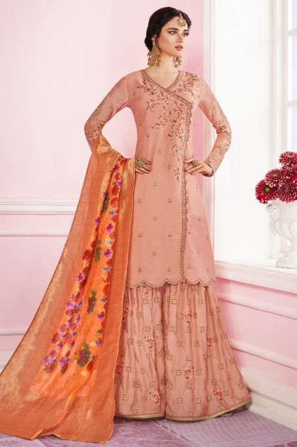 Mrigni Sarara Salwar Suit Wholesale Catalog 3 Pcs