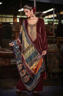 Mumtaz Arts Safaa Velvet Vol 1 Salwar Suit Wholesale Catalog 8 Pcs