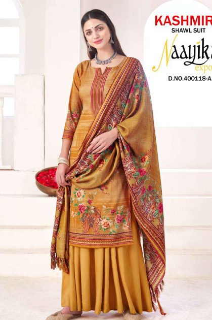 Naayika Kashmira Shawl Salwar Suit Wholesale Catalog 10 Pcs