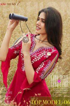 Rani Trendz Top Model Vol 6 Tops Wholesale Catalog 7 Pcs