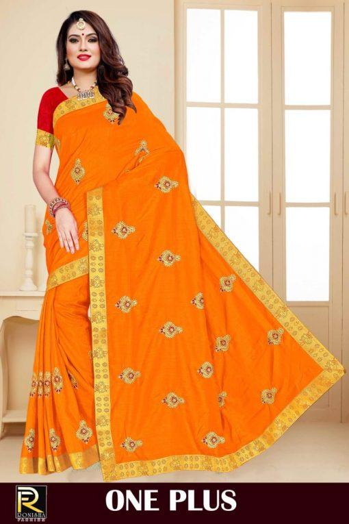 Ranjna One Plus Saree Sari Wholesale Catalog 8 Pcs 7 510x765 - Ranjna One Plus Saree Sari Wholesale Catalog 8 Pcs