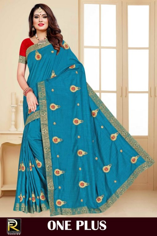 Ranjna One Plus Saree Sari Wholesale Catalog 8 Pcs 8 510x765 - Ranjna One Plus Saree Sari Wholesale Catalog 8 Pcs