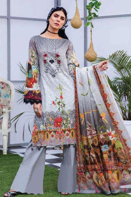 Sana Safinaz Lawn Collection Vol 10 NX21 Salwar Suit Wholesale Catalog 4 Pcs