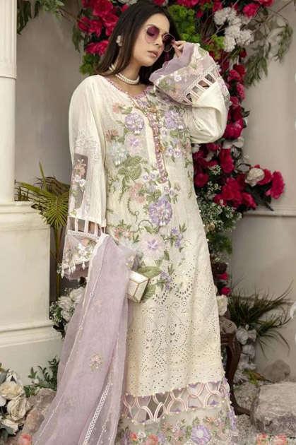 Shree Fabs Adan Libaas Schiffli Collection Vol 7 Salwar Suit Wholesale Catalog 4 Pcs
