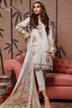 Shree Fabs Firdous Embroidered Lawn Collection Salwar Suit Wholesale Catalog 7 Pcs