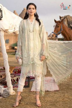 Shree Fabs Mariya B Lawn Remix NX Salwar Suit Wholesale Catalog 2 Pcs