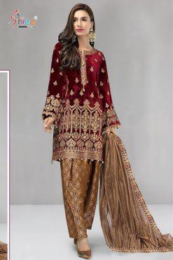 Shree Fabs Mariya B Velvet Collection Salwar Suit Wholesale Catalog 2 Pcs