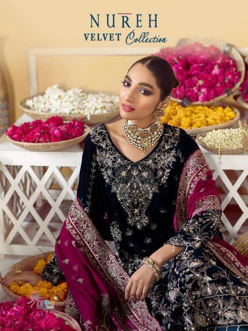 Shree Fabs Nureh Velvet Collection Salwar Suit Wholesale Catalog 4 Pcs 1 510x680 - Shree Fabs Nureh Velvet Collection Salwar Suit Wholesale Catalog 4 Pcs