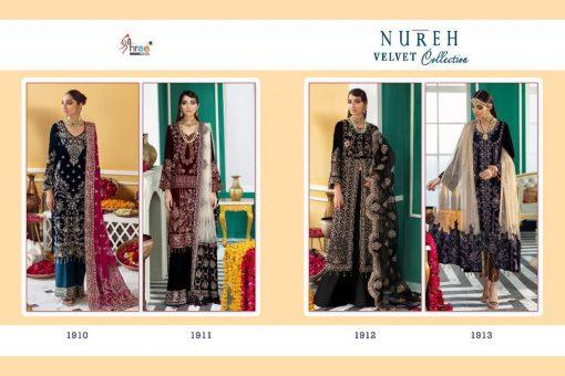 Shree Fabs Nureh Velvet Collection Salwar Suit Wholesale Catalog 4 Pcs 10 510x340 - Shree Fabs Nureh Velvet Collection Salwar Suit Wholesale Catalog 4 Pcs