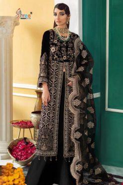 Shree Fabs Nureh Velvet Collection Salwar Suit Wholesale Catalog 4 Pcs