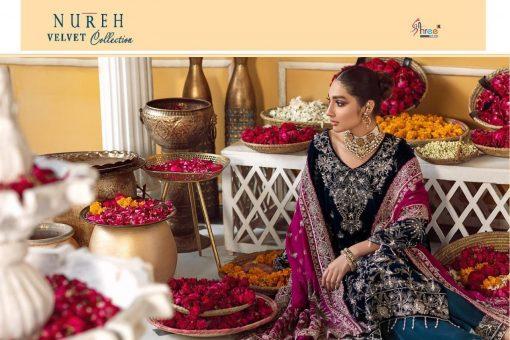Shree Fabs Nureh Velvet Collection Salwar Suit Wholesale Catalog 4 Pcs 7 510x340 - Shree Fabs Nureh Velvet Collection Salwar Suit Wholesale Catalog 4 Pcs