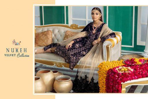 Shree Fabs Nureh Velvet Collection Salwar Suit Wholesale Catalog 4 Pcs 8 510x340 - Shree Fabs Nureh Velvet Collection Salwar Suit Wholesale Catalog 4 Pcs