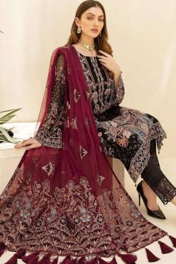 Shree Fabs Ramsha Embroidered Collection Vol 4 Salwar Suit Wholesale Catalog 6 Pcs